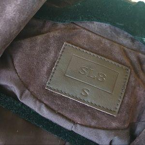 Sl8 Jackets & Coats - Sl8 Moto Leather Jacket in Maroon